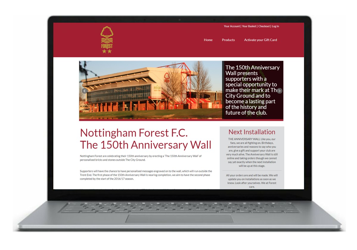 Forest Home Page Laptop