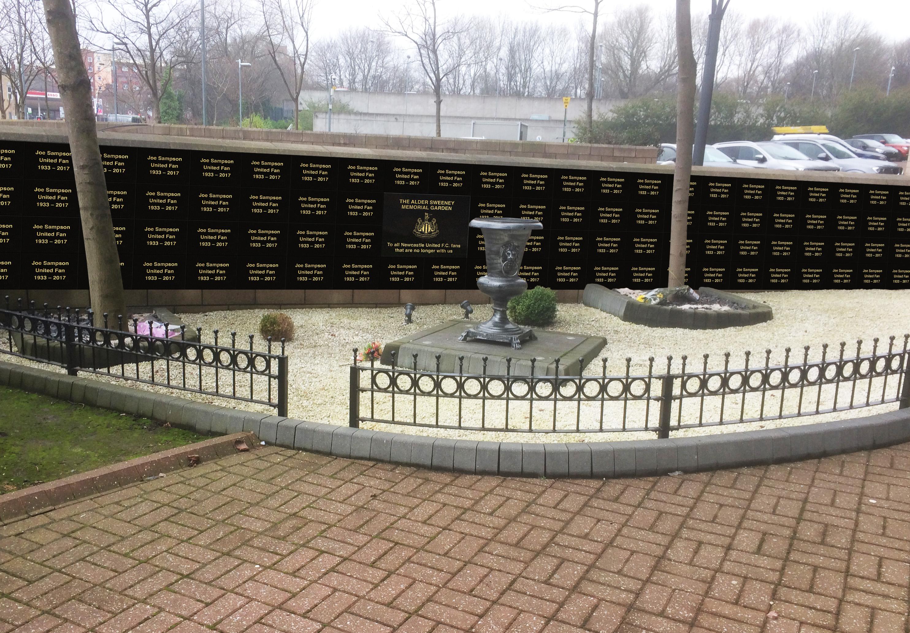 NUFC Memorial Garden MockUp