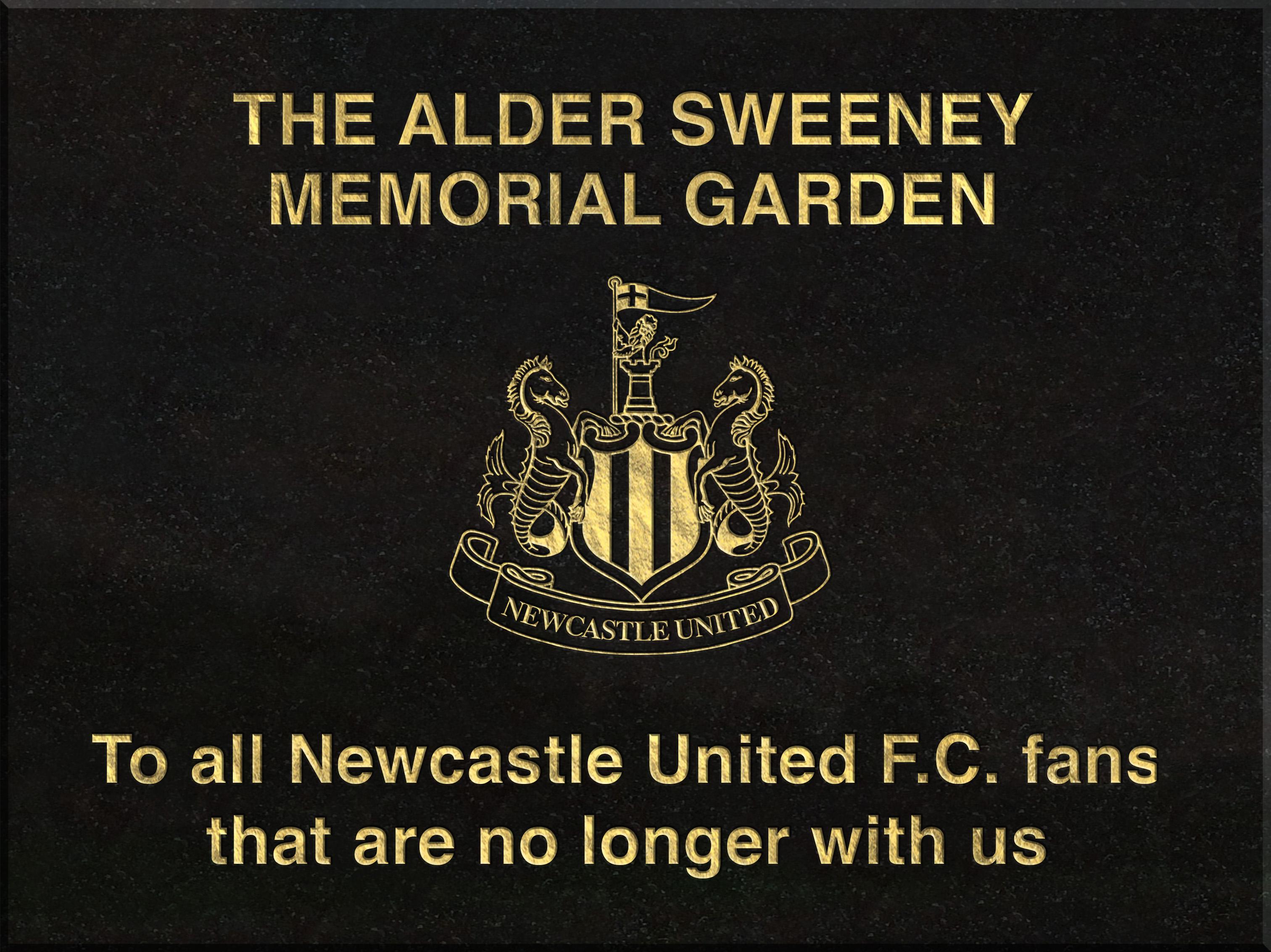 NUFC Memorial centre stone
