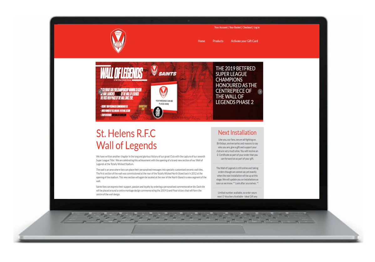 St Helen Home Page Laptop
